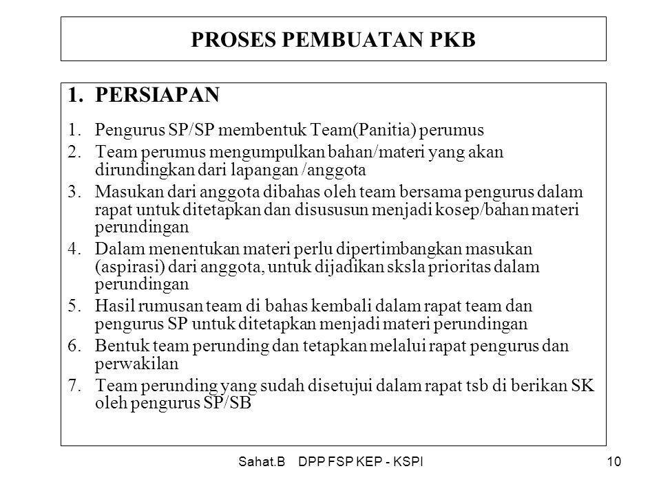 Sahat.B DPP FSP KEP - KSPI