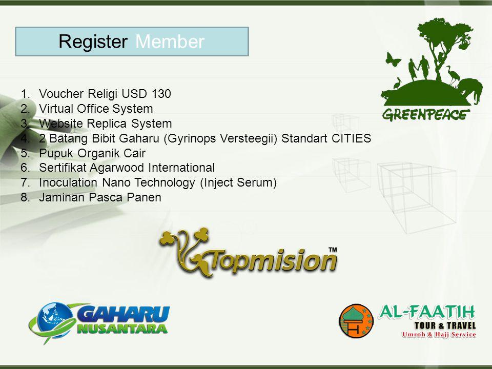 Register Member Voucher Religi USD 130 Virtual Office System
