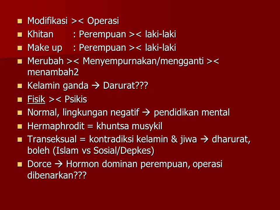 Modifikasi >< Operasi