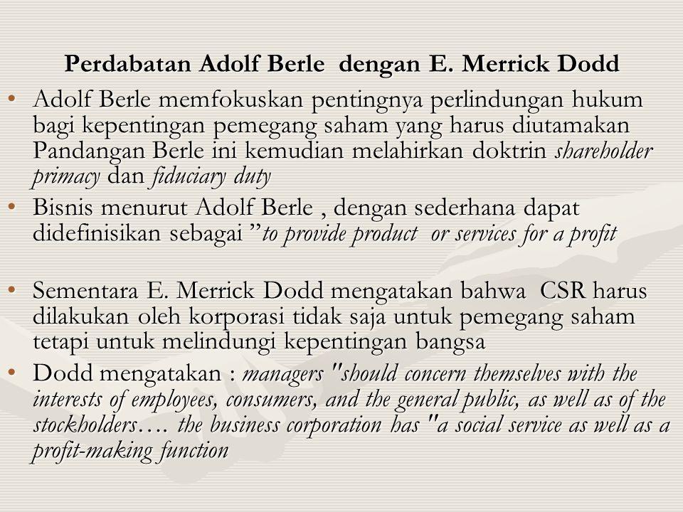 Perdabatan Adolf Berle dengan E. Merrick Dodd
