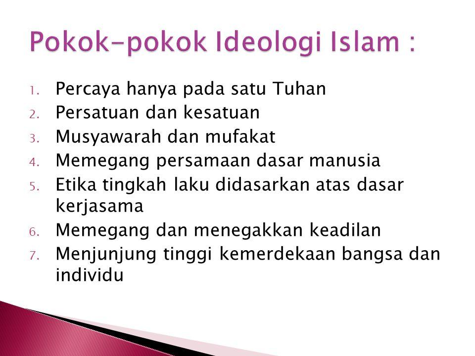 Pokok-pokok Ideologi Islam :