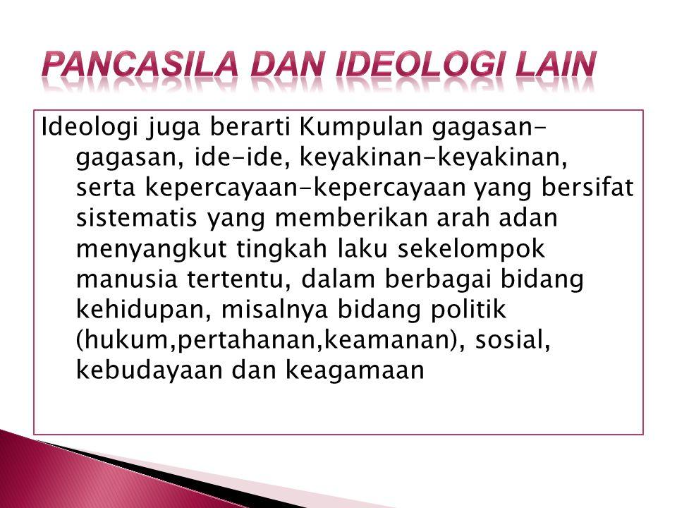 Pancasila dan Ideologi lain