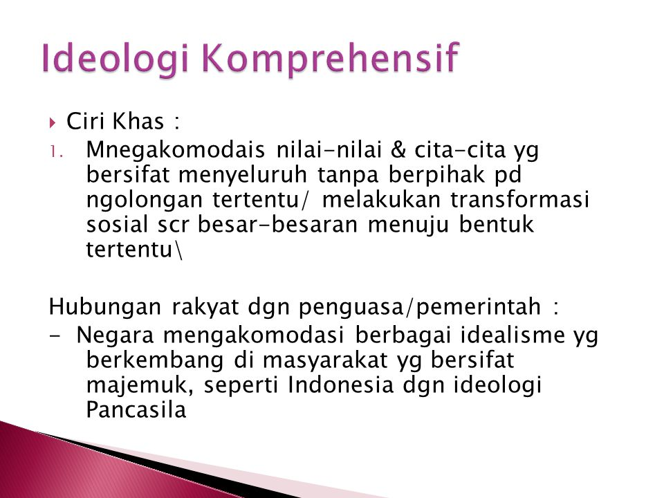 Ideologi Komprehensif