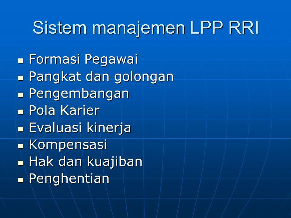 Sistem manajemen LPP RRI