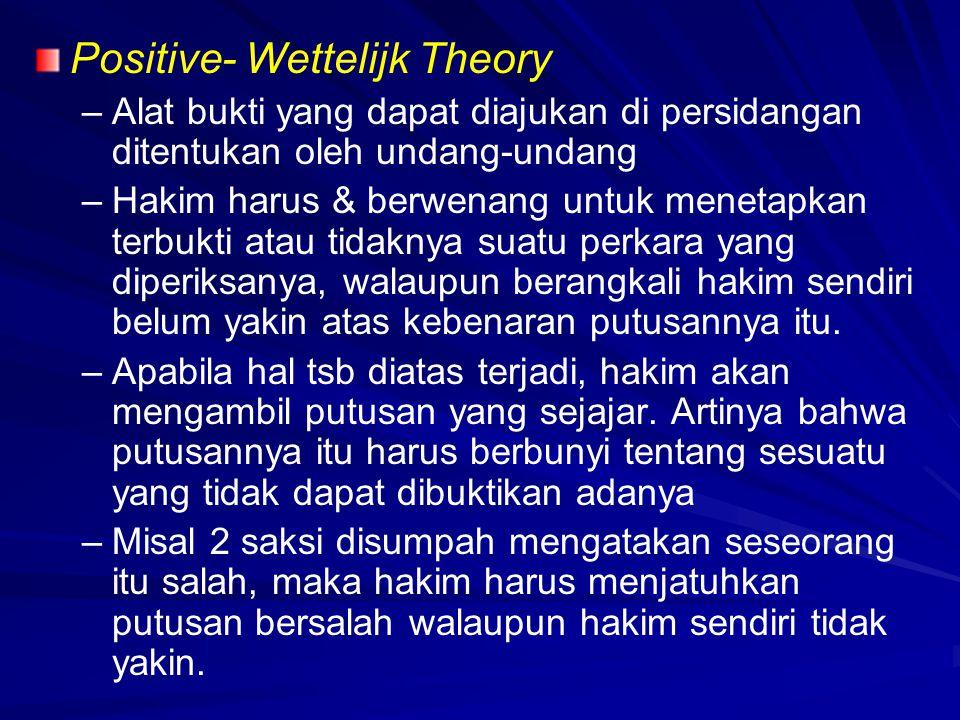 Positive- Wettelijk Theory