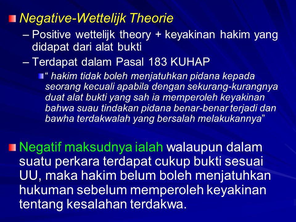 Negative-Wettelijk Theorie