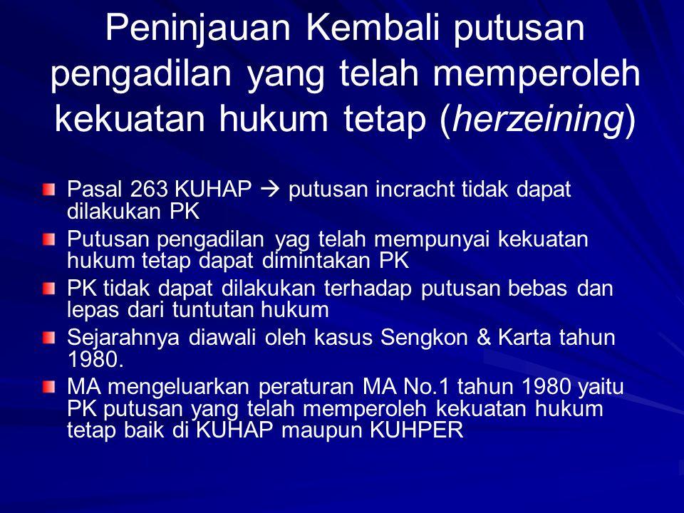 Peninjauan Kembali putusan pengadilan yang telah memperoleh kekuatan hukum tetap (herzeining)