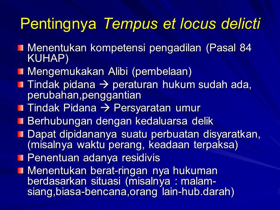 Pentingnya Tempus et locus delicti