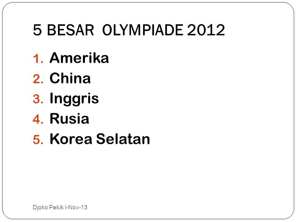 5 BESAR OLYMPIADE 2012 Amerika China Inggris Rusia Korea Selatan