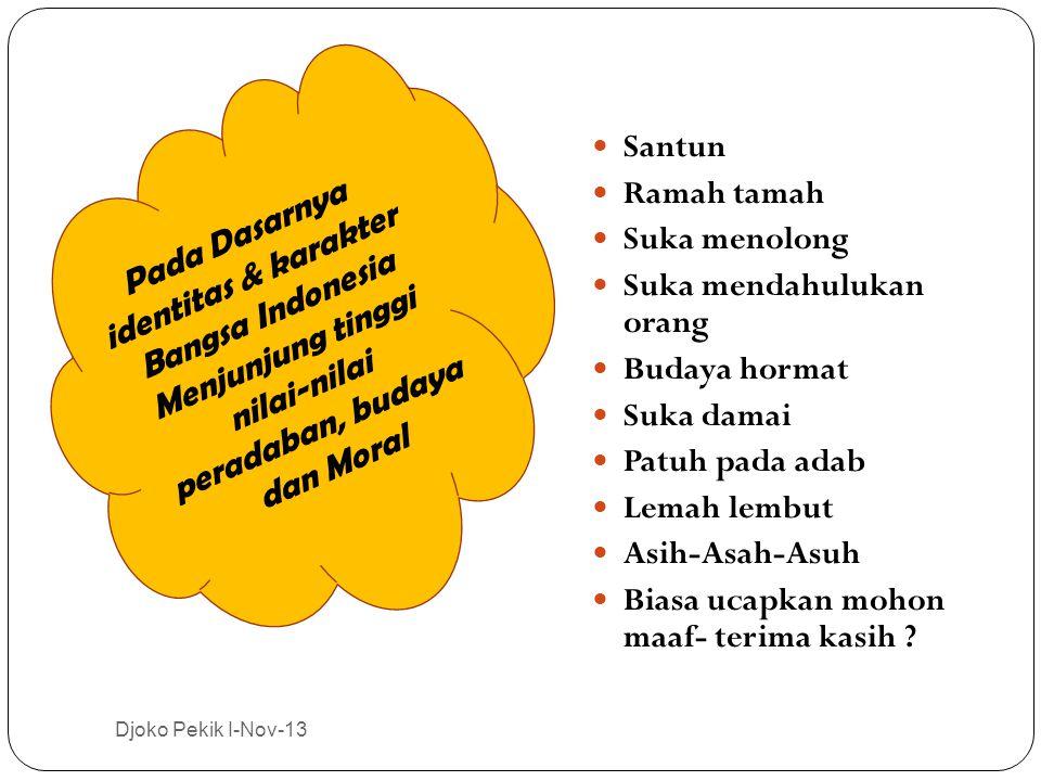 Pada Dasarnya identitas & karakter Bangsa Indonesia