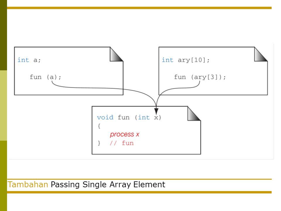 Tambahan Passing Single Array Element