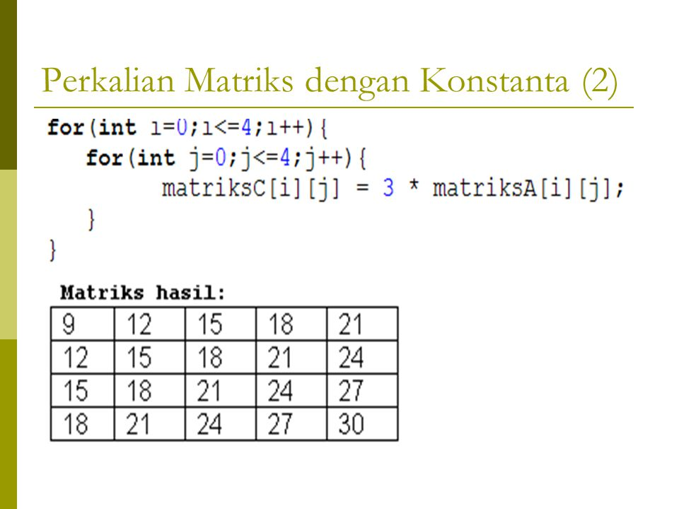 Perkalian Matriks dengan Konstanta (2)