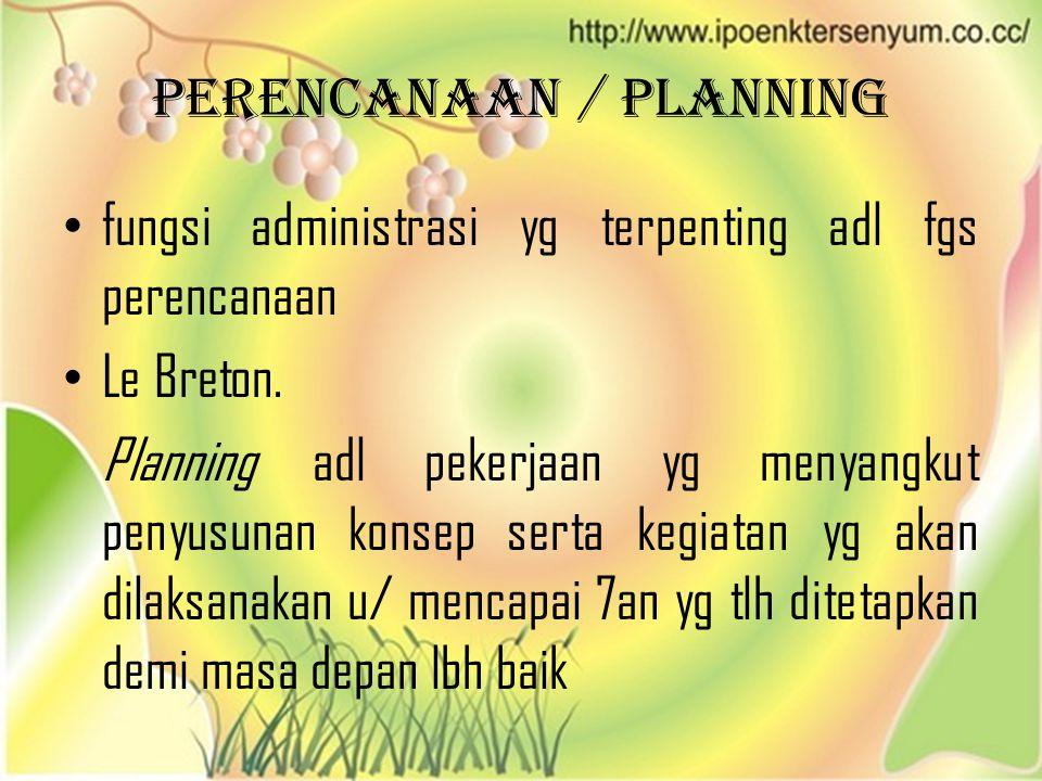 Perencanaan / Planning