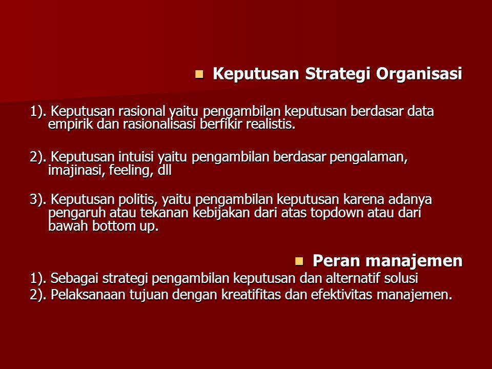 Keputusan Strategi Organisasi