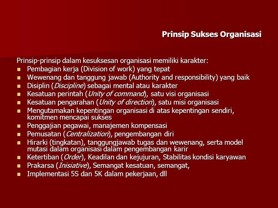 Prinsip Sukses Organisasi