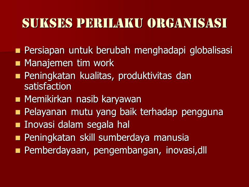 Sukses Perilaku Organisasi