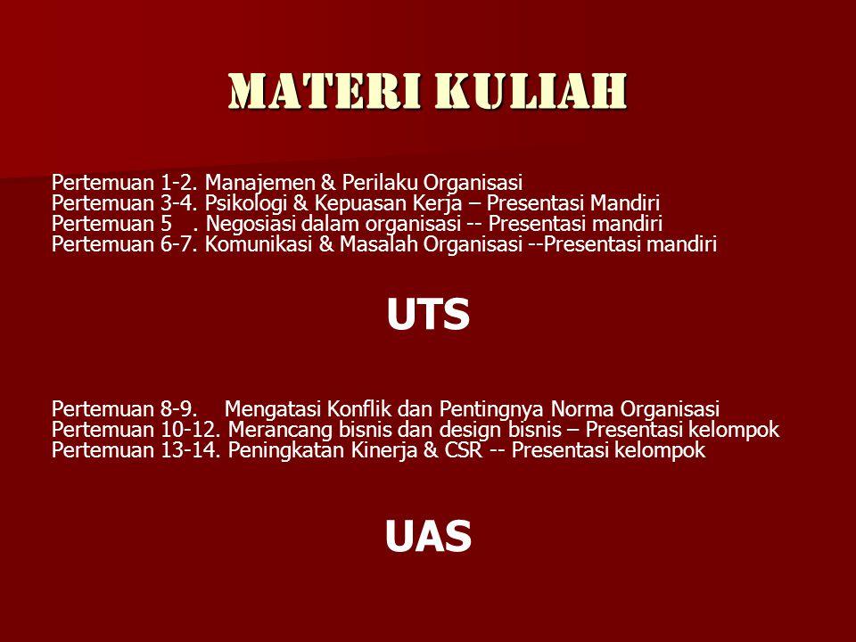 Materi Kuliah UTS UAS Pertemuan 1-2. Manajemen & Perilaku Organisasi
