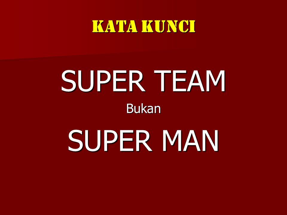 Kata Kunci SUPER TEAM Bukan SUPER MAN