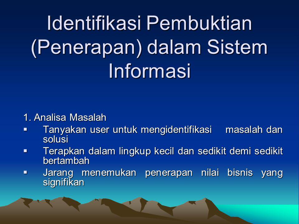 Identifikasi Pembuktian (Penerapan) dalam Sistem Informasi