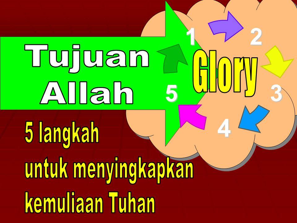 Tujuan Allah Glory 5 langkah untuk menyingkapkan kemuliaan Tuhan