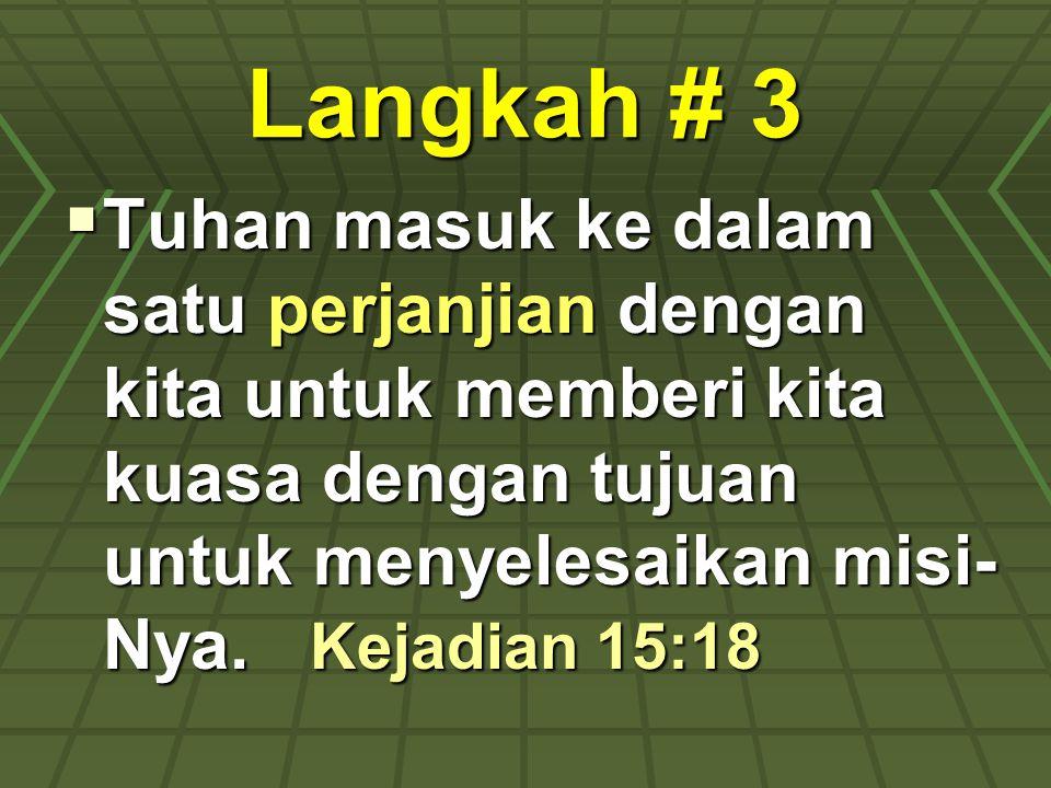 Langkah # 3