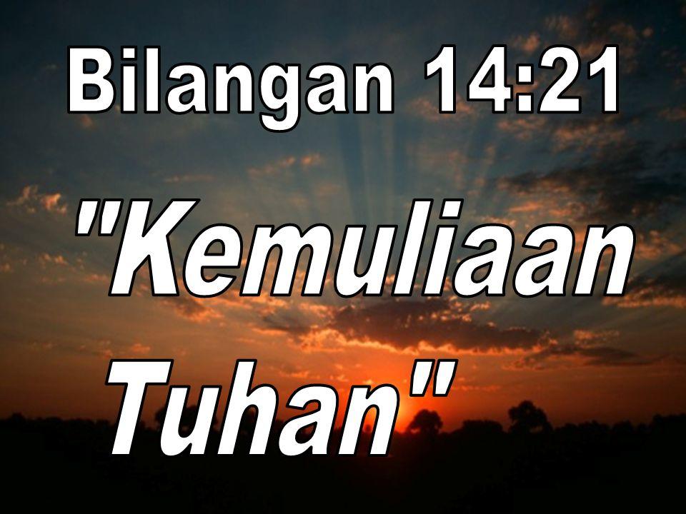Bilangan 14:21 Kemuliaan Tuhan