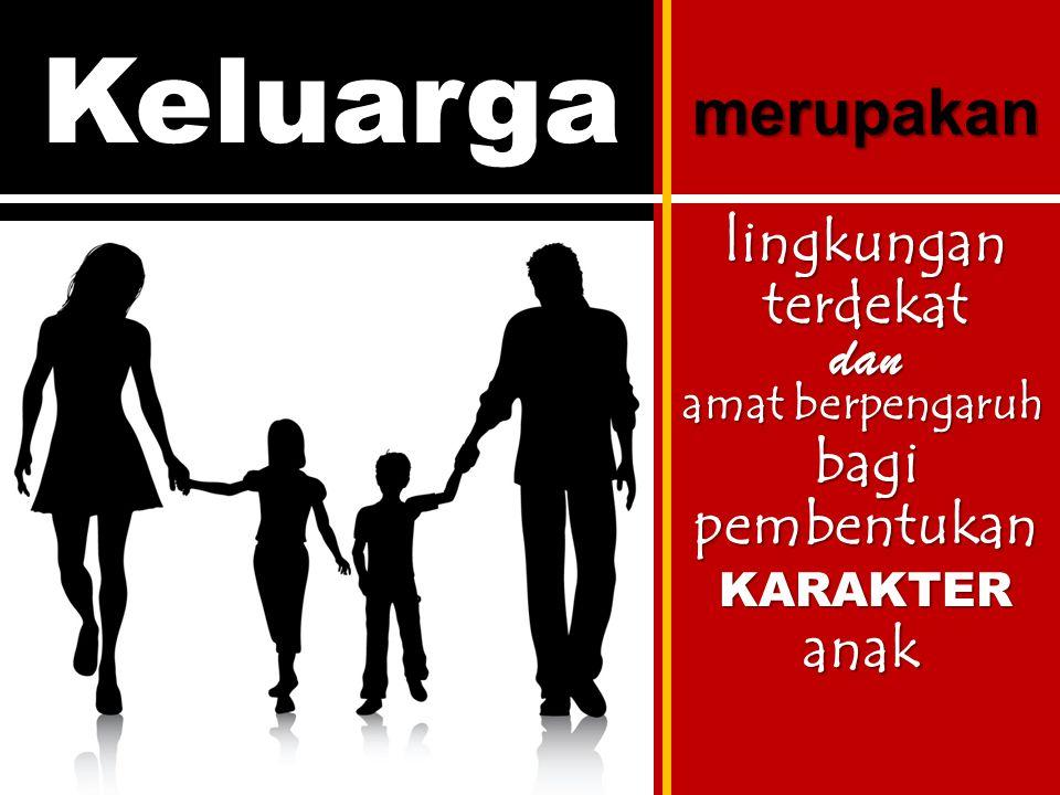 Keluarga merupakan lingkungan terdekat dan bagi pembentukan anak