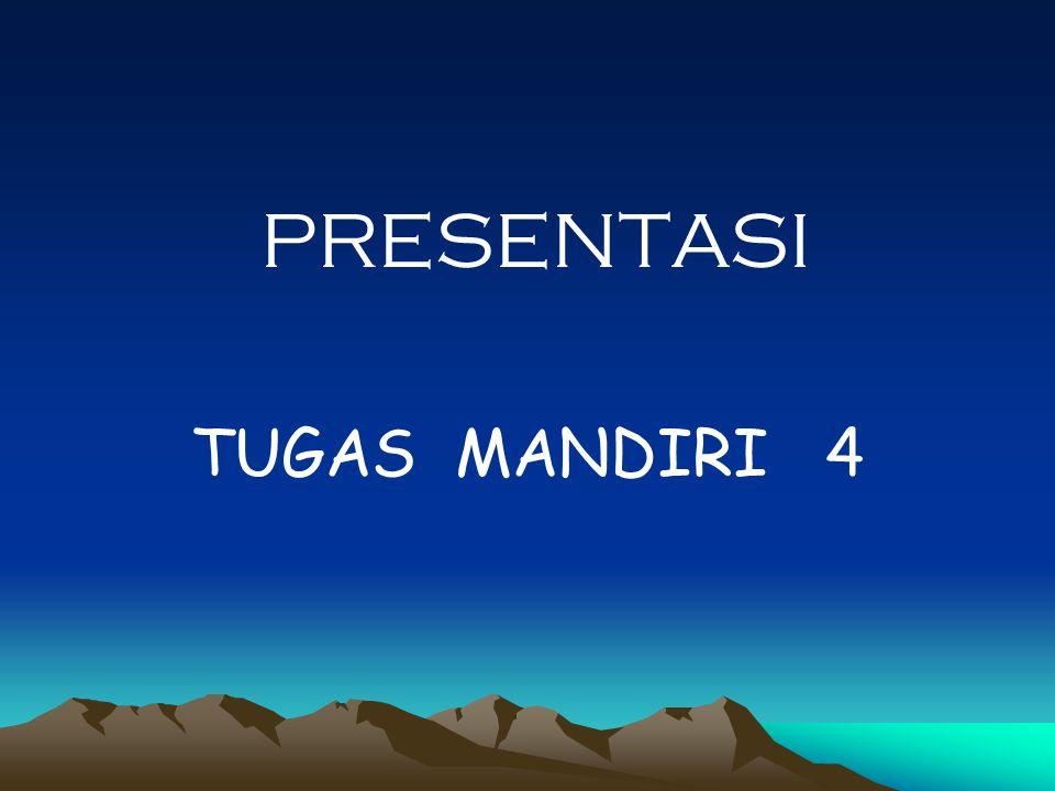 PRESENTASI TUGAS MANDIRI 4