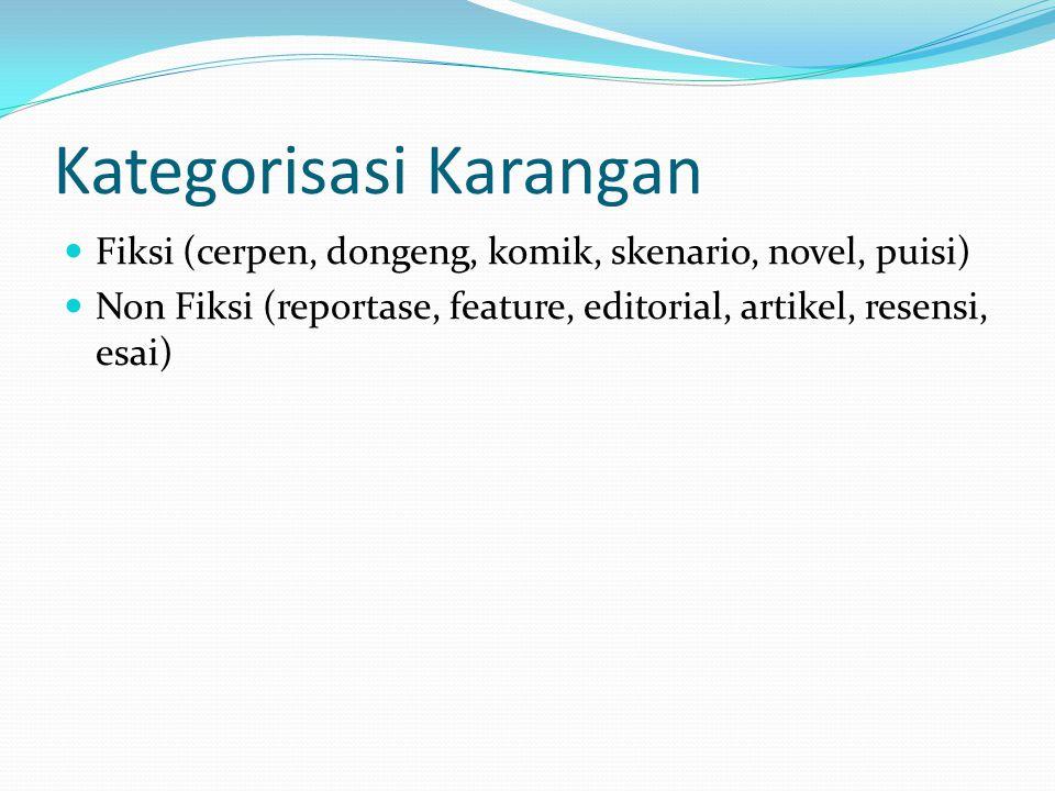 Kategorisasi Karangan