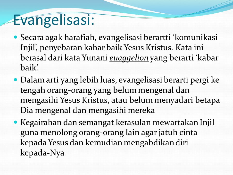 Evangelisasi:
