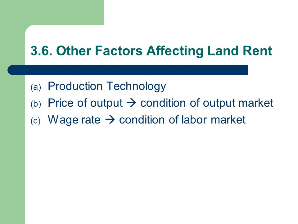3.6. Other Factors Affecting Land Rent