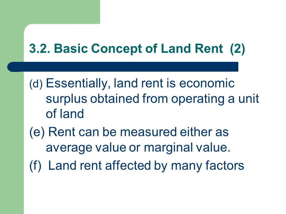 3.2. Basic Concept of Land Rent (2)