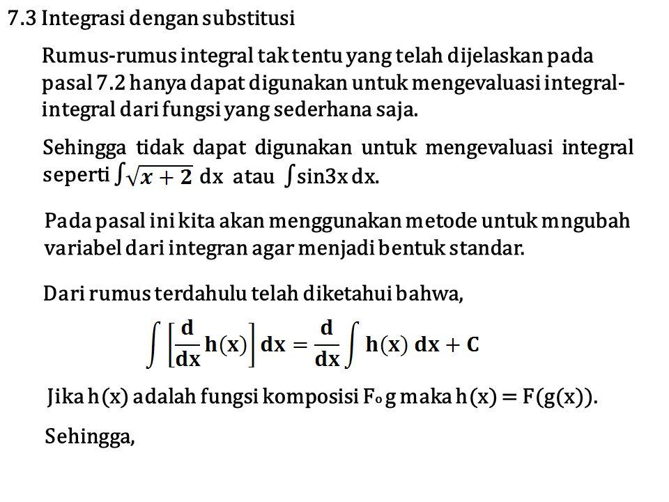7.3 Integrasi dengan substitusi