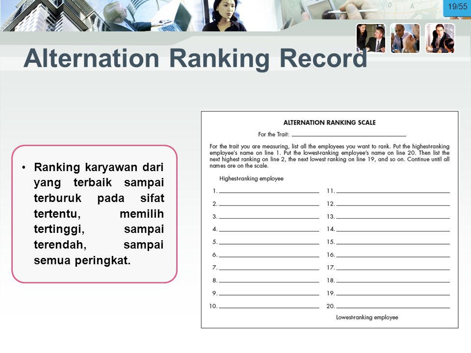 Alternation Ranking Record