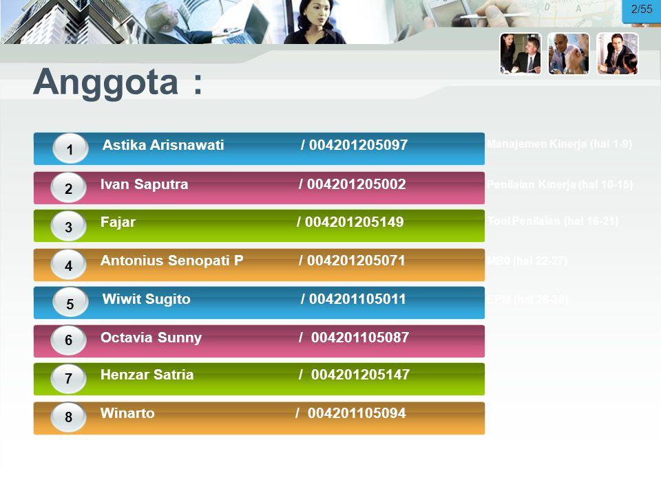 Anggota : Astika Arisnawati / 004201205097 1