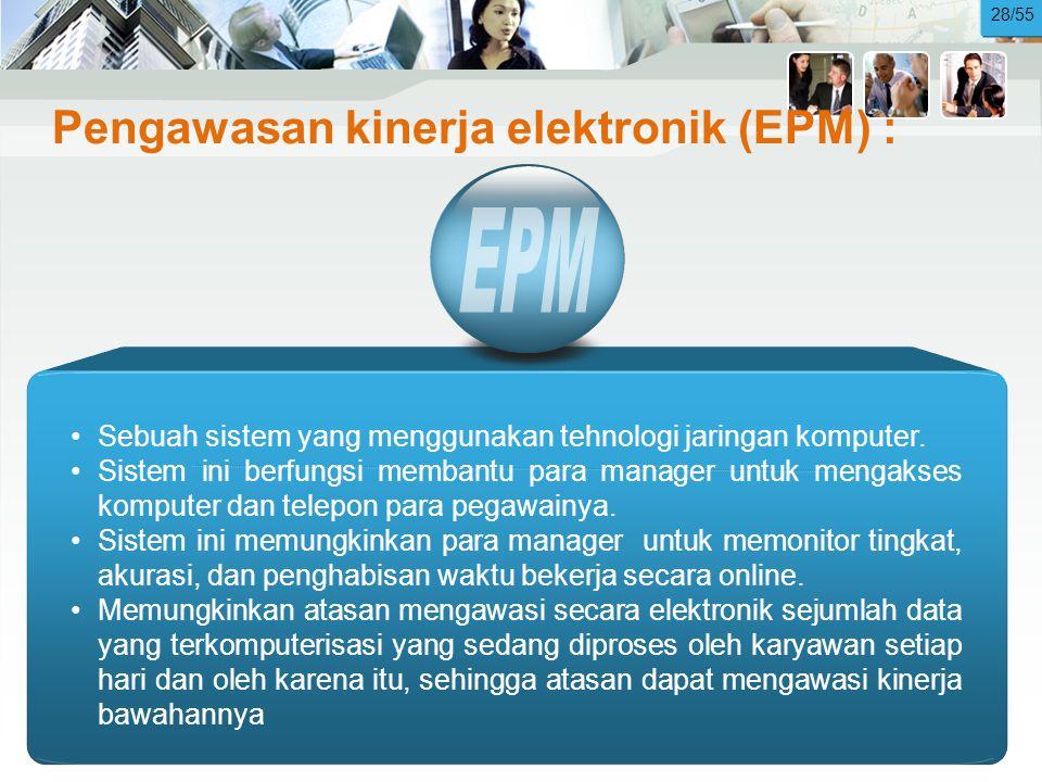 Pengawasan kinerja elektronik (EPM) :