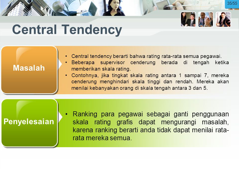 Central Tendency Masalah Penyelesaian