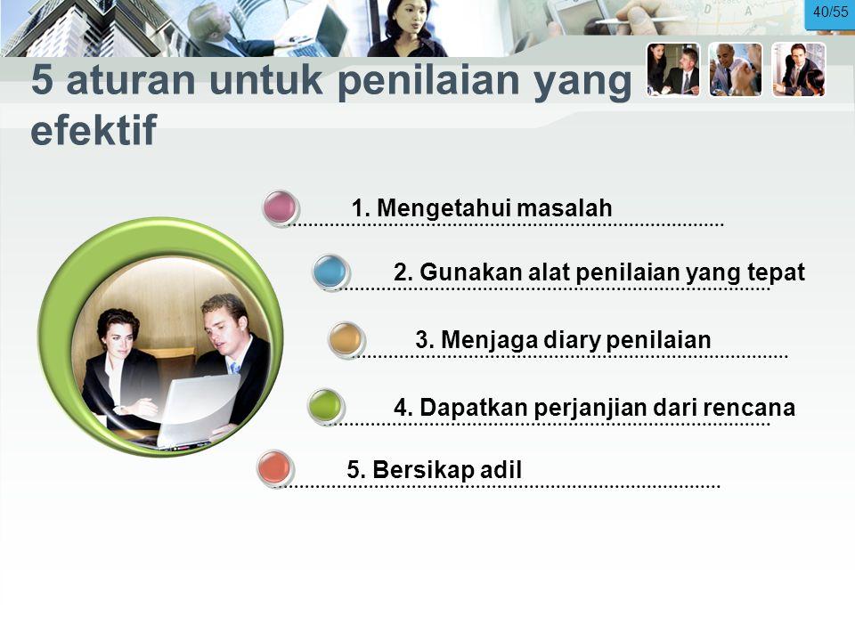 5 aturan untuk penilaian yang efektif