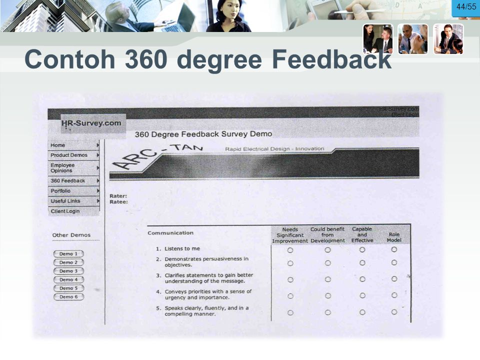 Contoh 360 degree Feedback