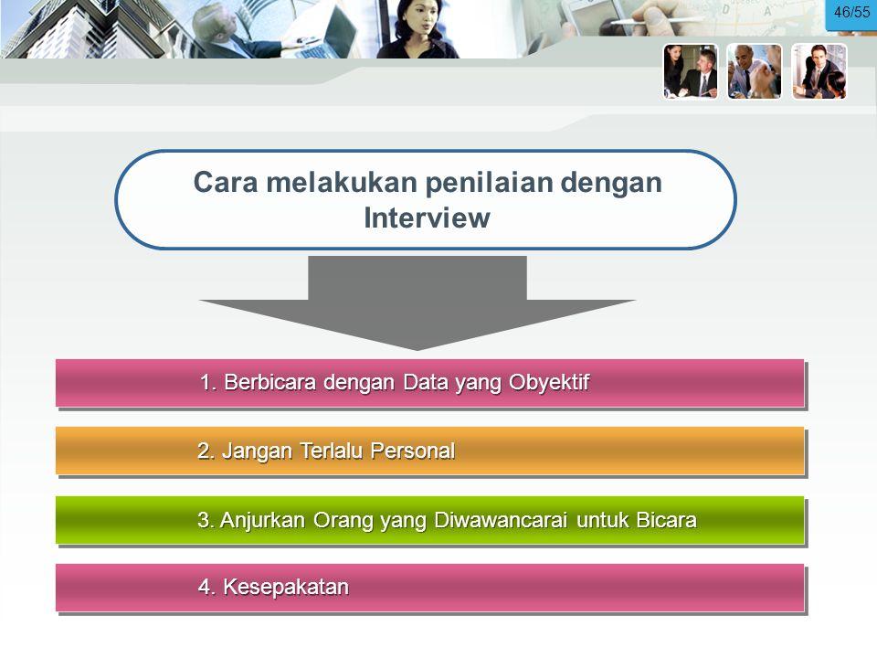 Cara melakukan penilaian dengan Interview