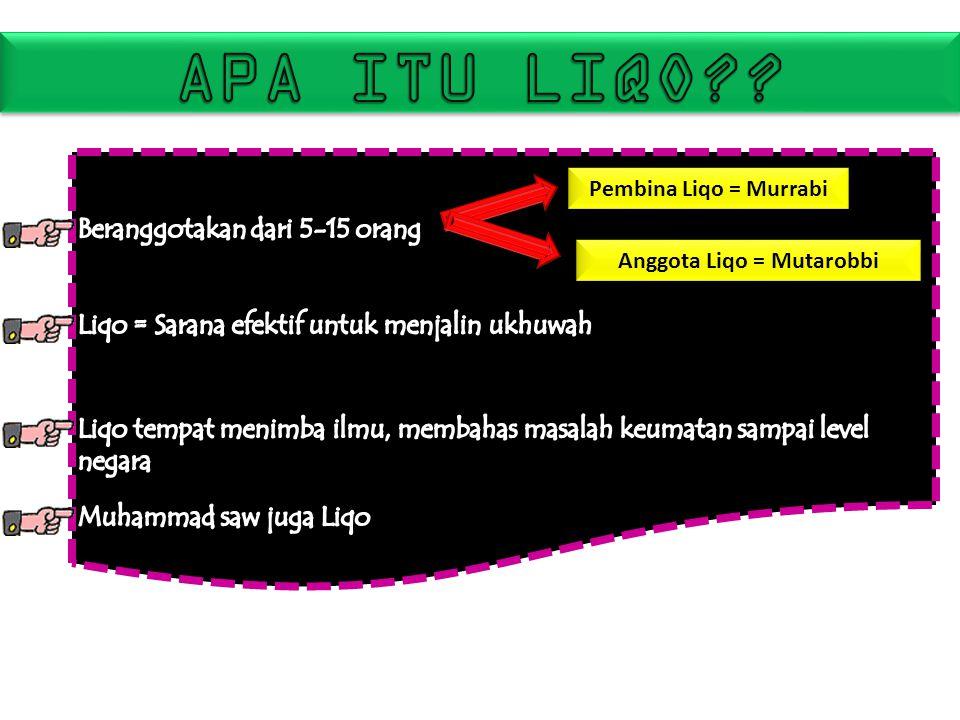Anggota Liqo = Mutarobbi