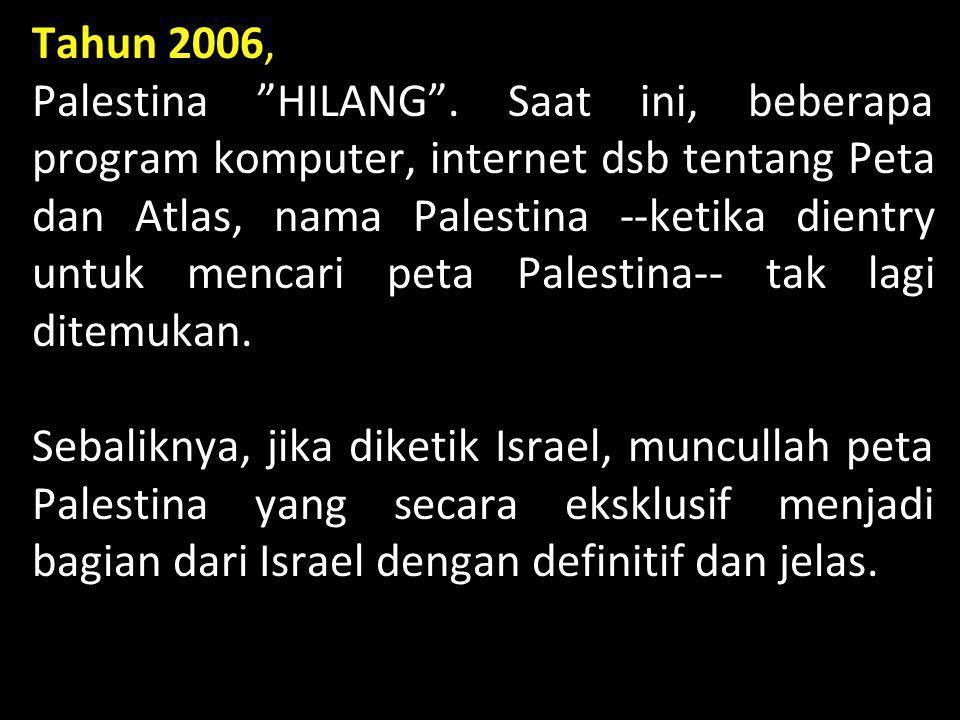 Tahun 2006, Palestina HILANG