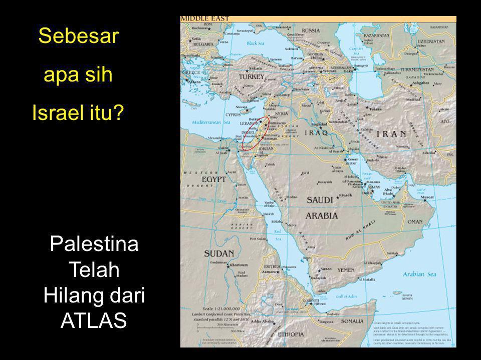 Palestina Telah Hilang dari ATLAS