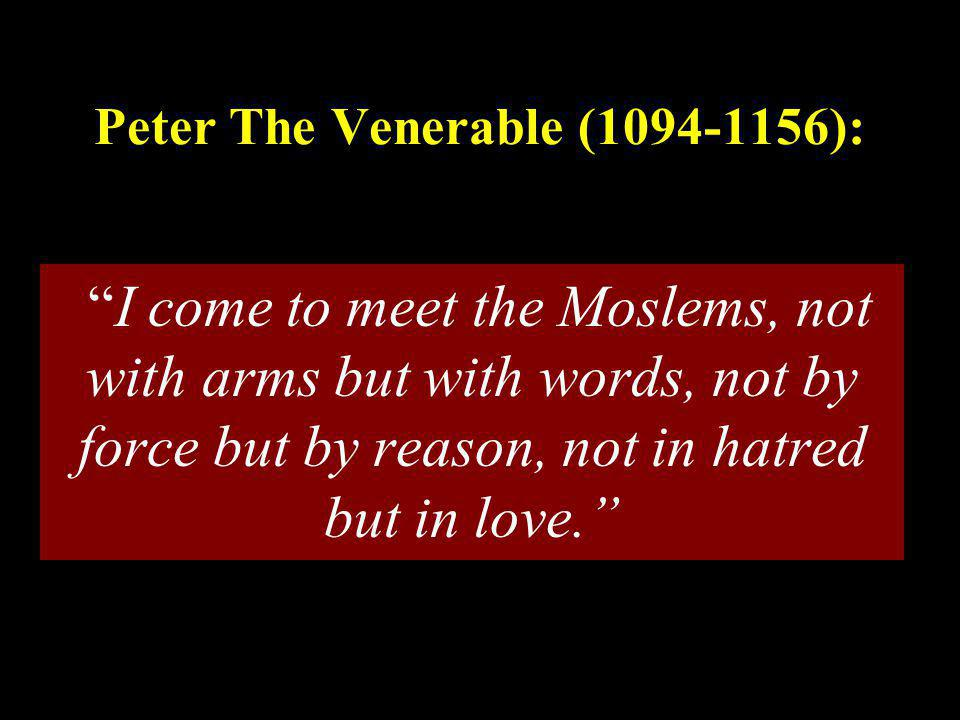Peter The Venerable (1094-1156):