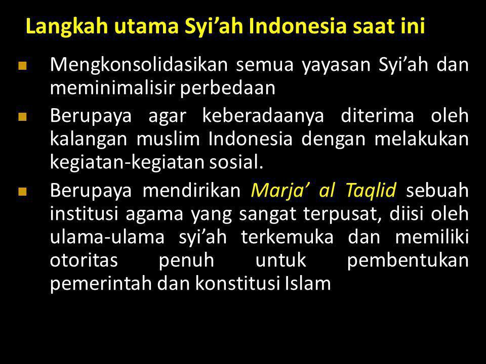 Langkah utama Syi'ah Indonesia saat ini