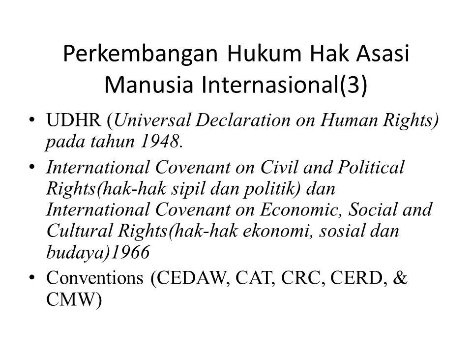 Perkembangan Hukum Hak Asasi Manusia Internasional(3)
