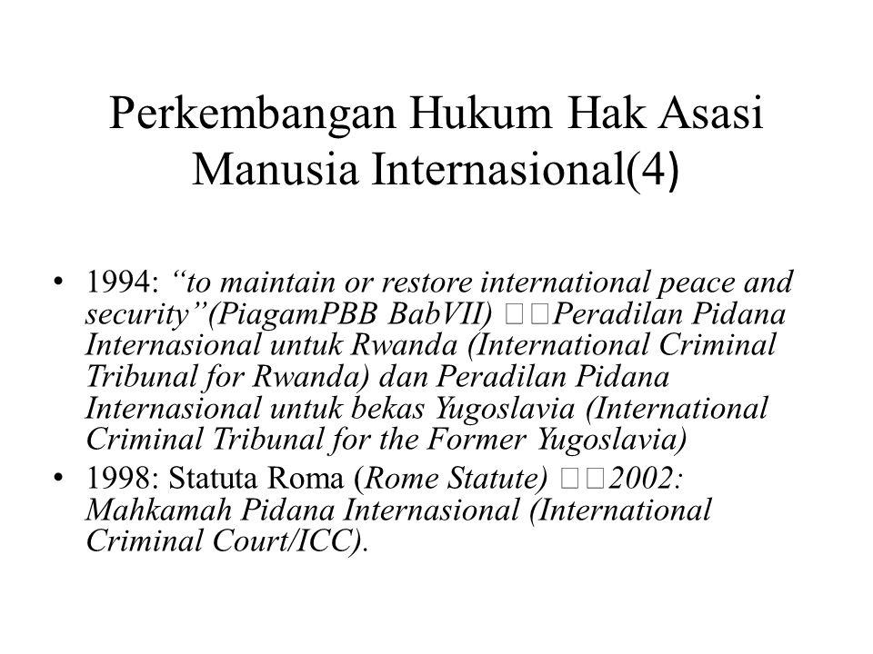 Perkembangan Hukum Hak Asasi Manusia Internasional(4)