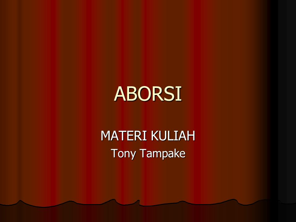 MATERI KULIAH Tony Tampake