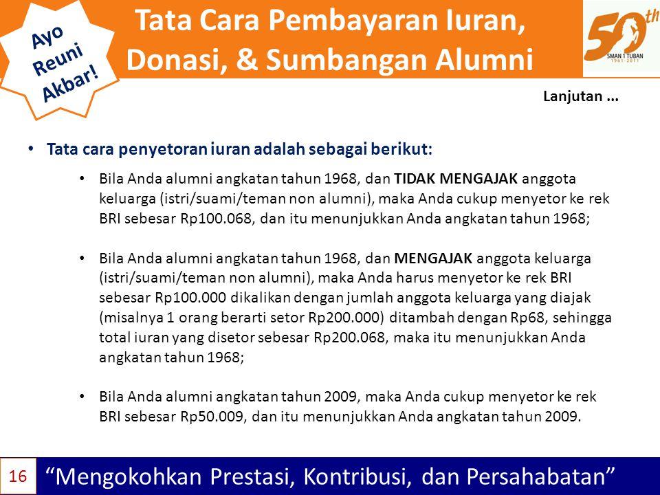 Tata Cara Pembayaran Iuran, Donasi, & Sumbangan Alumni