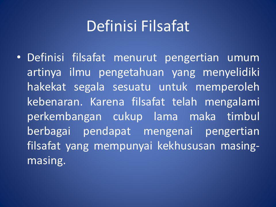 Definisi Filsafat